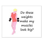 Do these weights (Blonde) Small Poster
