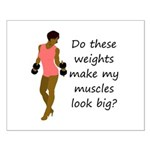 Do these weights Small Poster
