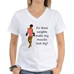 Do these weights Women's V-Neck T-Shirt