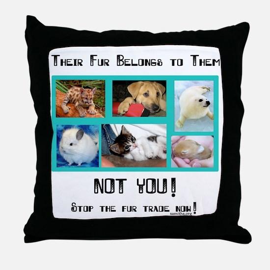 Their Fur Throw Pillow