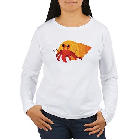 Cute Hermit Crab Women's Long Sleeve T-Shirt