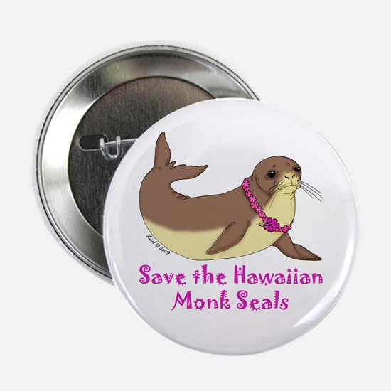 "Monk Seal 2.25"" Button"