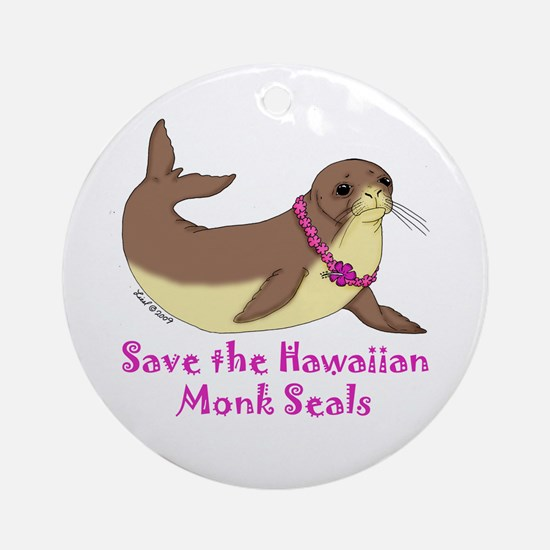 Monk Seal Ornament (Round)
