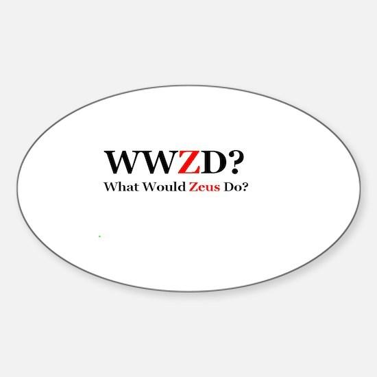 WWZD? Sticker (Oval)