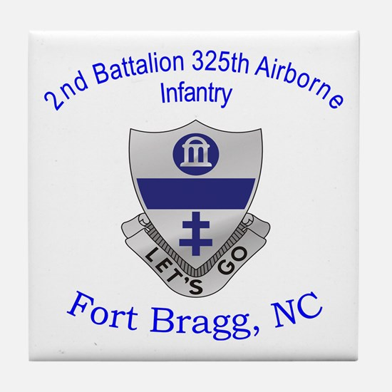 2nd Bn 325th ABN Inf Tile Coaster