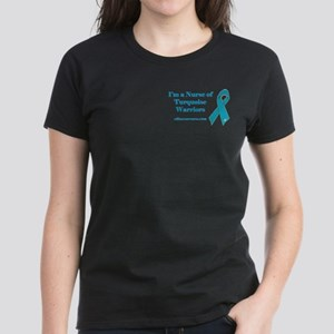 Nurse of Turquoise Warriors Women's Dark T-Shirt