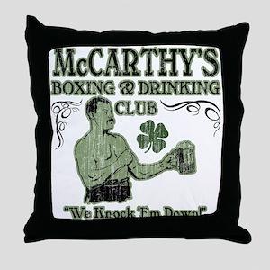 McCarthy's Club Throw Pillow