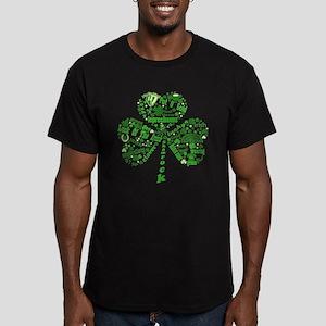 St Paddys Day Shamrock Men's Fitted T-Shirt (dark)