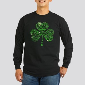 St Paddys Day Shamrock Long Sleeve Dark T-Shirt