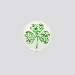 St Paddys Day Shamrock Mini Button