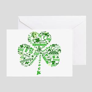 St Paddys Day Shamrock Greeting Card