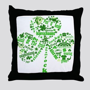 St Paddys Day Shamrock Throw Pillow