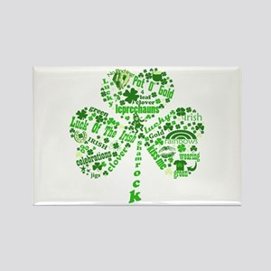 St Paddys Day Shamrock Rectangle Magnet