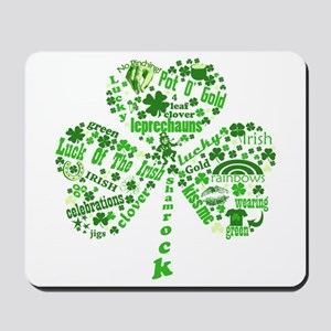 St Paddys Day Shamrock Mousepad