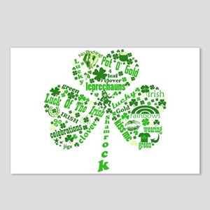 St Paddys Day Shamrock Postcards (Package of 8)