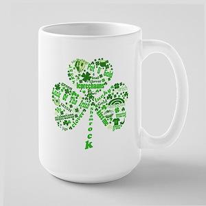 St Paddys Day Shamrock Large Mug