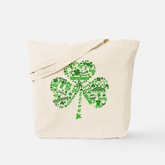 St Paddys Day Shamrock Tote Bag