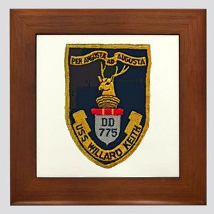 USS WILLARD KEITH Framed Tile