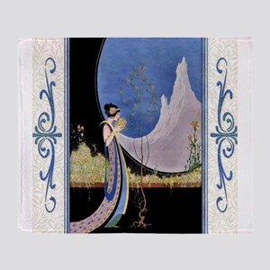 Art Deco Spring Mavis Vivadou Ad Throw Blanket