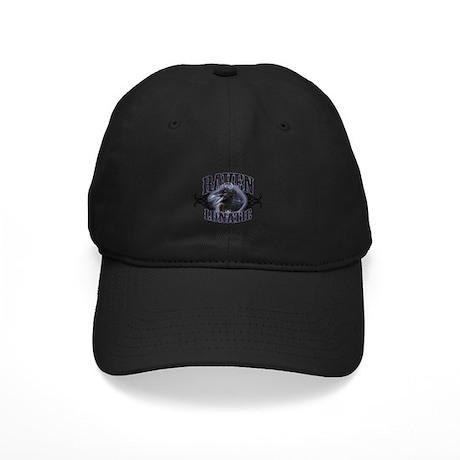 Raven Lunatic Gothic Black Cap