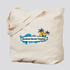 Buckroe Beach SC - Surf Design Tote Bag