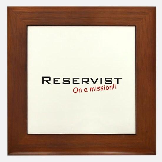 Reservist/Mission Framed Tile