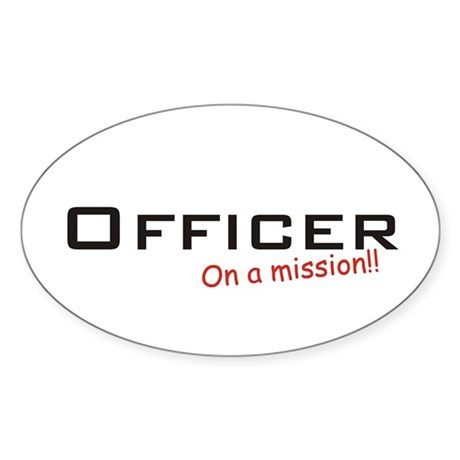 Officer/Mission Sticker (Oval)