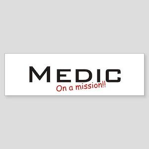 Medic/Mission Sticker (Bumper)