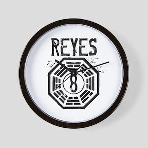 Reyes - 8 - LOST Wall Clock