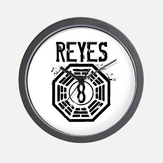 Reyes - 8 - LOST Wall Clock
