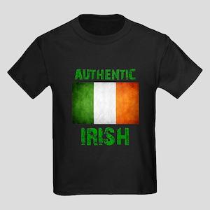 """""""Authentic IRISH"""" Flag Kids Dark T-Shirt"""
