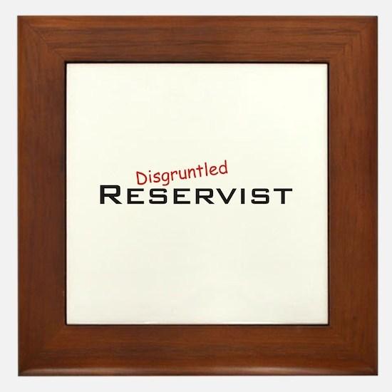 Disgruntled Reservist Framed Tile