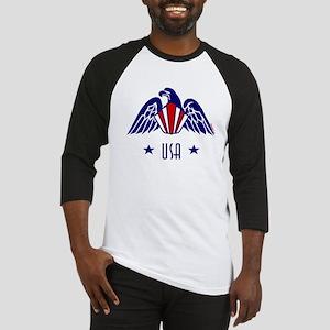 USA Gold Eagle-Art Deco Baseball Jersey