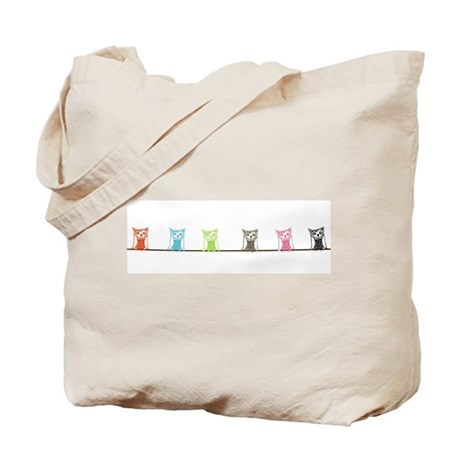 6 owls (2-sided/black owl) Tote Bag