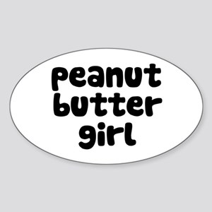 Peanut Butter Girl Oval Sticker
