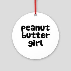 Peanut Butter Girl Ornament (Round)