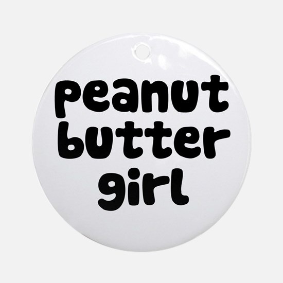 Peanut Butter Girl Ornament (Round)