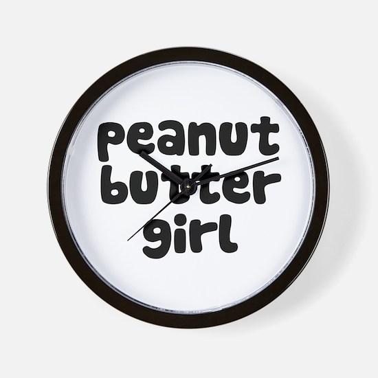 Peanut Butter Girl Wall Clock