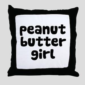 Peanut Butter Girl Throw Pillow