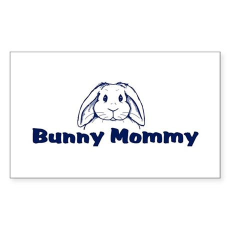 Bunny Mommy Rectangle Sticker