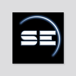 SpaceEngine Icon Square Black Sticker