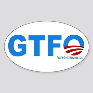 GTFO Sticker (Oval)