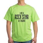 Rock Star In Taiwan Green T-Shirt