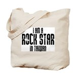 Rock Star In Taiwan Tote Bag