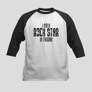 Rock Star In Taiwan Kids Baseball Jersey