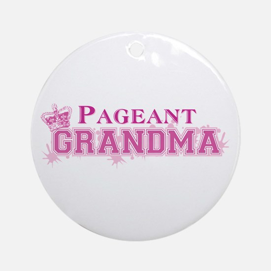 Pageant Grandma Ornament (Round)