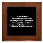 Rutherford B Hayes quote Framed Tile