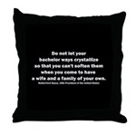 Rutherford B Hayes quote Throw Pillow