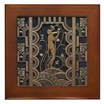 Art Deco Gilded Harmony Framed Tile