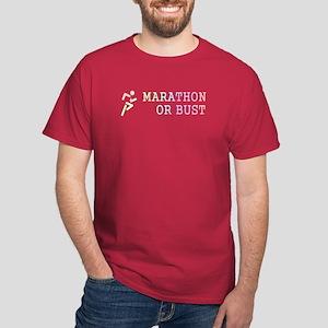 TOP Marathon or Bust Dark T-Shirt